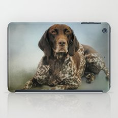 Waiting For A Cue - German Shorthaired Pointer iPad Case