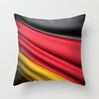 Flag Of Germany Throw Pillow