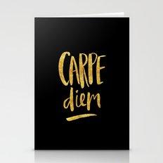 Carpe Diem in Gold Foil Stationery Cards