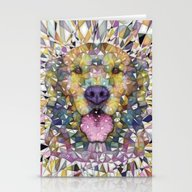 Stationery Cards featuring Rainbow Dog by Ancello