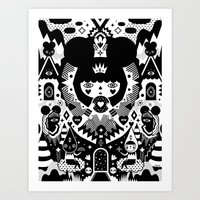 Art Prints featuring Nevaeh by Muxxi