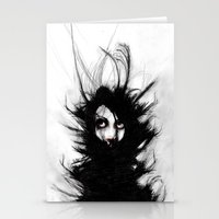 Coiling And Wrestling. D… Stationery Cards