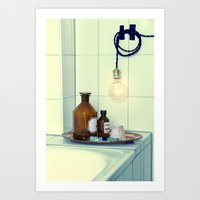 Bathroom Set  Art Print