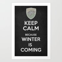 Keep Calm - Game Poster 02 Art Print