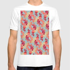 Floral Pattern SMALL Mens Fitted Tee White