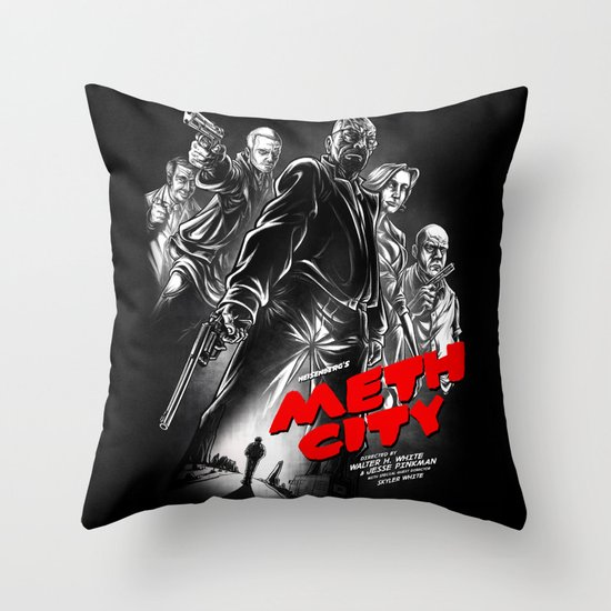 Meth City Throw Pillow