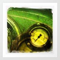 Green Dial Art Print