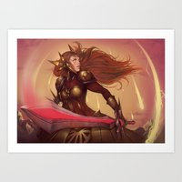 THE RADIANT DAWN Art Print