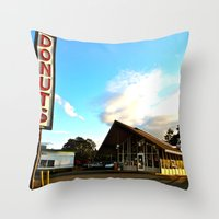 Little House of Donuts Throw Pillow
