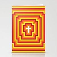 Technicolour Cross - Ora… Stationery Cards