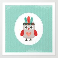 Art Print featuring HIPSTER OWLET Alternate … by Daisy Beatrice