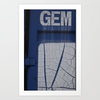 gem blue Art Print