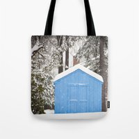 Blue Snow House  Tote Bag