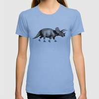 Triceratops Womens Fitted Tee Athletic Blue SMALL