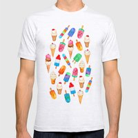 Summer Pops and Ice Cream Dreams Mens Fitted Tee Ash Grey SMALL