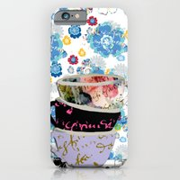 iPhone & iPod Case featuring There's a pattern on my cup by KarenHarveyCox