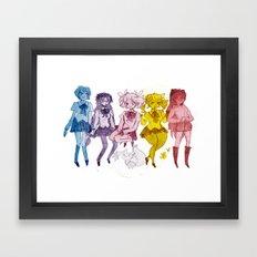 Puella Magi Framed Art Print