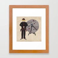 Frontier Acupuncturist Framed Art Print