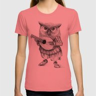 MISTER OWL Womens Fitted Tee Pomegranate X-LARGE