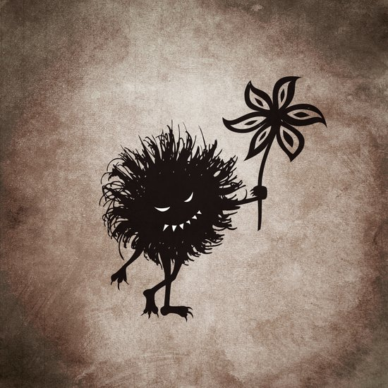 Evil Bug Gives Flower Art Print