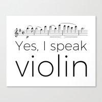 I speak violin Canvas Print