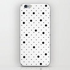 Pin Points Polka Dot Black and White iPhone & iPod Skin