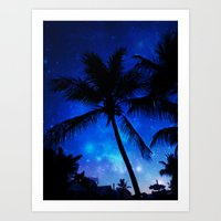 Cosmic Palms Art Print