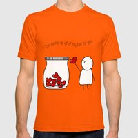 I'm Saving Up All My Love For You! Mens Fitted Tee Orange SMALL