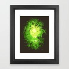 Autumn Green Framed Art Print