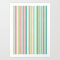 Candy Stripe Pastels Art Print
