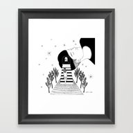 Framed Art Print featuring Into Your Dream by Henn Kim