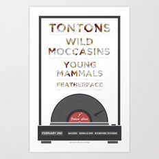 Record Player Concert Poster for The Tontons Art Print