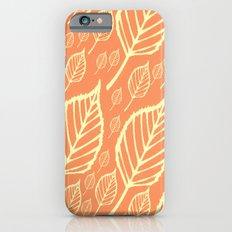 Orange Autumn Leaf Design  iPhone 6 Slim Case