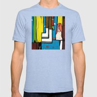 SEARCHING THROUGH a SHOEBOX FULL of MEMORIES Mens Fitted Tee Tri-Blue SMALL