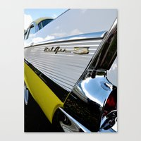 Yellow Classic American … Canvas Print