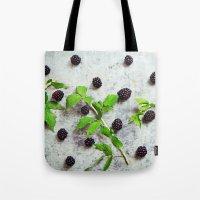 Scattered Blackberries Tote Bag