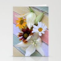 Flowers 'n Chalk Stationery Cards