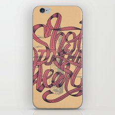 Shot To The Heart iPhone & iPod Skin
