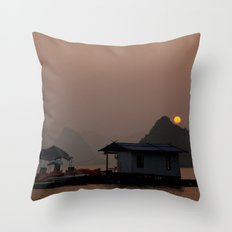 Halong Sunset Throw Pillow