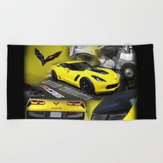2015 Corvette ZO6 Beach Towel
