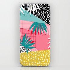 Bingo - throwback retro memphis neon tropical socal desert festival trendy hipster pattern pop art  iPhone & iPod Skin