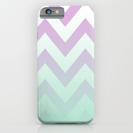 PINK CHEVRON MINT FADE iPhone & iPod Case