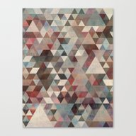 Triangles Rusty Canvas Print