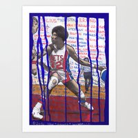 NBA PLAYERS - Julius Erv… Art Print