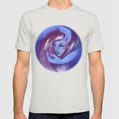 Support from Universe Mens Fitted Tee Silver SMALL