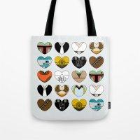 Character Hearts Tote Bag