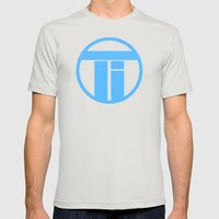 Titan's Plan Mens Fitted Tee Silver SMALL