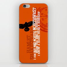 Hamlet-  North by Northwest - Madness - Shakespeare Quote Art iPhone & iPod Skin
