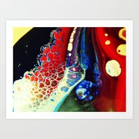 Stained Walls Art Print