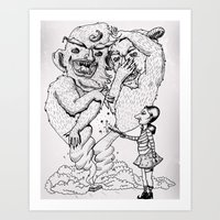 Box-O-Trolls Art Print